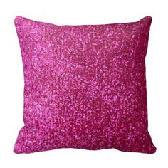 """Hot Pink Faux Glitter Throw Pillows NOTE: PRODUCT DOES NOT CONTAIN ACTUAL GLITTER. IT IS A GLITTER GRAPHIC. """"hot pink"""", pink, glitter, glittery, sparkle, sparkles, sparkly, sparkley, sparkling, glittering, glitters, ..."""