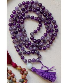 Cleansing Mala Bead Necklace: Soul Flower Clothing