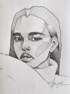 Portrait by Polina Bright - - Art Painting, Sketches, Sketch Book, Art Drawings, Illustration Art, Pen Art Drawings, Art, Drawing Tutorial Face, Art Sketches