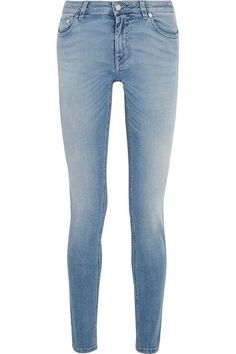 Givenchy - Printed Low-rise Skinny Jeans - Mid denim - FR36