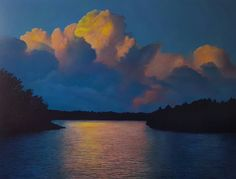 "Antonia Tyz Peeples ~ ""Cumulus Nocturne"" ~ Oil on Linen  30 x 40"