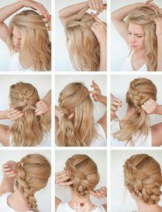 A side braid bun