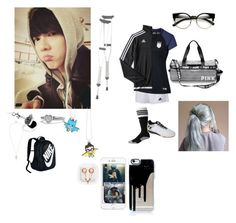 """""""Sprained my ankle during soccer practice~Luna"""" by luna-from-dna ❤ liked on Polyvore featuring David Yurman, Metal Couture, River Island, adidas, NIKE, ZeroUV and claire's"""