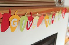 Super simple DIY banner (love the craft store tip) - could adapt this for so many seasons Family Thanksgiving, Thanksgiving Crafts, Thanksgiving Decorations, Halloween Decorations, Simple Diy, Super Simple, Easy Diy, Creative Activities For Kids, Family Activities