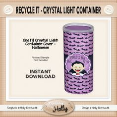 Recycle It - Crystal Light Container - Halloween - Instant Download Printable…