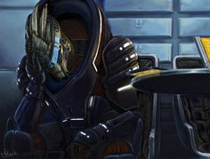 Heartfelt. Sad. Beautiful. Amazing.  Andromeda - Unwelcome News by efleck.deviantart.com  #garrusvakarian #masseffect #shakarian