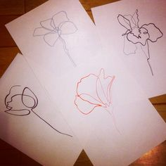 One Line Flowers