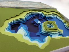 Landscape and natural forms on paper Taal Lake Bathymetric Map on Behance by Cory Mitchell