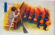 1900+Halloween+Cards | gravesandghouls: Halloween Postcards c. 1900s