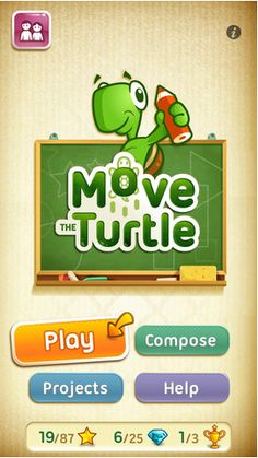 Move the Turtle app: A virtual Turtle introduces basic concepts of programming such as loops, procedures, variables and conditional instructions in a colourful graphic environment.