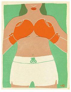 Sophie Casson - Art print - Boxeuse - Sur ton mur - 1