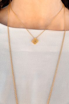 The Lao pendant in Recycled Sterling Silver with 18ct Gold plating