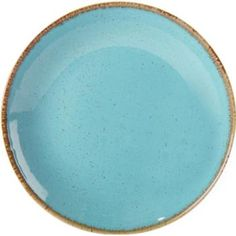The striking blue green hues of Sea Spray adds a splash of colour to the table.  #colouredcrockery #catering #crockery Seasons - Seasons - Sea Spray Coupe Plate 24cm / 9 1/2 available at Roneford Catering