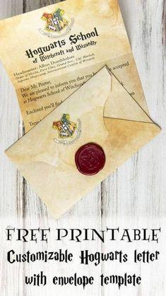 /Hogwarts Portrait Crest Th/ème f/ête//accessoires Invitation f/ête danniversaire dHarry Potter/ lot de 12/A5/invitations WITH Envelopes