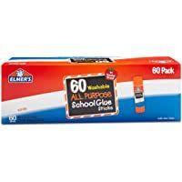 Elmer S All Purpose School Glue Sticks Washable 60 Pack 0 24 Ounce Sticks In 2020 School Glue Elmer S School Glue Planner Pens