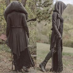 If it were leggings instead of a skirt, this could be an easy elven and/or ranger look >>> Dark Mori & Strega Fashion