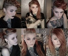 different ways to wear side shaved head..