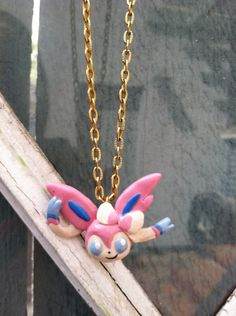 Pokemon Necklace Sylveon Polymer Clay Charm by PokemonCharms, $15.00