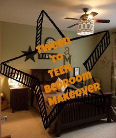 Tween to Teen boy bedroom makeover on a hundred dollar budget