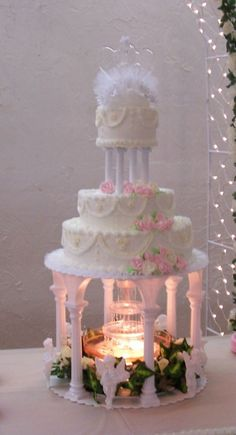 wilton wedding cake stands and fountain with bridge and stairs wedding cake stands and wedding. Black Bedroom Furniture Sets. Home Design Ideas