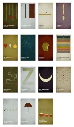 Minimalist Children's Book Posters