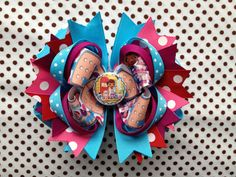Doc Mcstuffin Polka Dot Boutique Hairbow -Ready To Ship- Cute As A Button Little Boutique