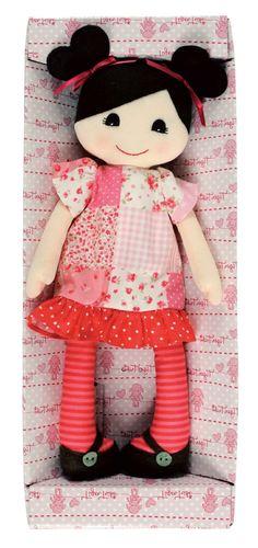 poupée chiffon en rose et rouge