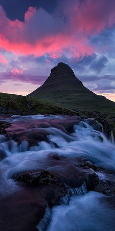 """""""Fire in the Sky""""  The most incredible sunset I have every photographed, Kirkjufell Mountain, Iceland. - Seattle Fine Art Nature Photographer (Justinreznick)"""