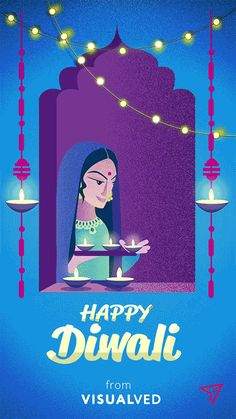 Diwali greetings everyone! I created a couple of gif animated cards to celebrate the festive Diwali season. Sharing one of them!