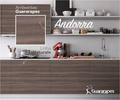 MDF Andorra | Cozinha Andorra | Linha Naturale | MDF Guararapes #MDF #decoraçãoMDF #decoração #DesignInteriores #padrõesMDF #homedecor #decoração #cozinha #decoraçãoemmadeira #peçasMDF