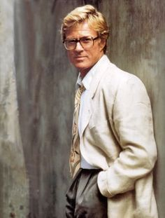 Come on with the rain, I've a smile on my face — bonjour-paige: Tee hee. Robert Redford wearing...