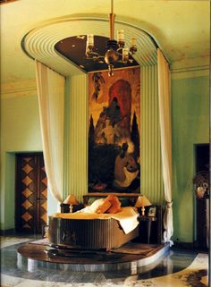 Art Deco bedroom - I definitely need to locate a few squillion dollars to have a bedroom like this. Any offers?