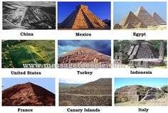 10 Remarkable Similarities Between Ancient Civilizations ....Pyramids around the world