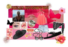 """""""Pucker Up! Sun's Up!"""" by missnerd-liz on Polyvore featuring Oakley, Miss Me, Beauty & The Beach, Yellow Box, Lime Crime, Fits, Urban Decay, Emily & Ashley, Kenneth Jay Lane and Kate Spade"""