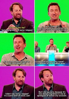 Would I lie to you ~ David Mitchell & Lee Mack British Comedy, British Humour, You Funny, Hilarious, Lee Mack, Mock The Week, David Mitchell, British Things, Tv Show Quotes