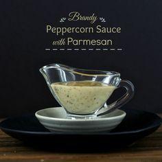 Brandy Peppercorn Sauce with Parmesan