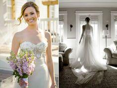 Ivory & White Bridal Boutique: Monique Lhuillier Bridal Gown | @m_lhuillier