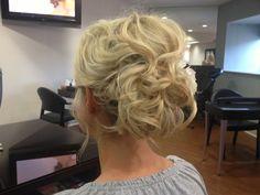 Wedding hairstyle by Ashley at Bukes Salon