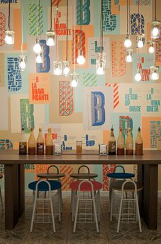 Two Points - Restaurant Interior - Brand Indentity for a Spanish Burger Chain Bacoa.