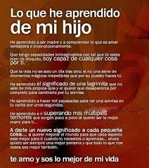 Resultado de imagen de poesia he aprendido que nadie es perfecto Son Quotes, Words Quotes, Life Quotes, I Love My Son, Love Of My Life, Mom Son, To My Daughter, Message To My Son, Quotes En Espanol