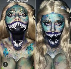 Monstrous siren makeup