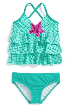 Love U Lots Tankini Two-Piece Swimsuit (Toddler Girls & Little Girls) available at #Nordstrom