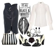 It Is A Black And White Thang by tammy-rosenfeld on Polyvore featuring polyvore fashion style Alexander McQueen Francesco Scognamiglio Alice + Olivia Dolce&Gabbana Johnny Loves Rosie Oscar de la Renta clothing