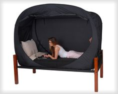 Privacy Pop Bed Tent Twin XL-Privacy Pop Bed Tent Twin XL Sharing a room with anyone can be a real drag, whether you like them or not! The Privacy Pop is a unique bed tent that is designed to give you maximum privacy even when you have to share a roo Bed Tent Twin, Dorm Rooms, Looks Cool, My New Room, Twin Xl, My Dream Home, Baby Car Seats, Home Goods, Sweet Home