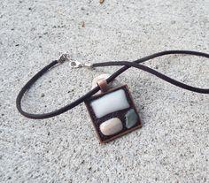 Bronze Pendant, Leaf Pendant, Glass Earrings, Glass Jewelry, Etsy Jewelry, Handmade Jewelry, Jewellery, Striped Earrings, Shops