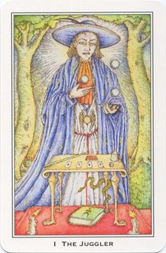 Magician from the Medieval Enchantment (Nigel Jackson) Tarot