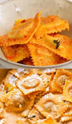 Creamy sauce flavoured with sun-dried tomato pesto, garlic and basil comes together in a flash! Ravioli Sauce Recipe, Pasta Sauce Recipes, Pasta Sauces, Vegetarian Recipes, Cooking Recipes, Healthy Recipes, Healthy Food, Tiny Food, Pasta Dishes