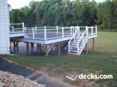 This Deck in Hamilton has a great view for quite times Second Story Deck, Deck Pictures, Deck Builders, New Deck, Backyard Patio, Patio Decks, Decking, Deck Plans, Building A Deck