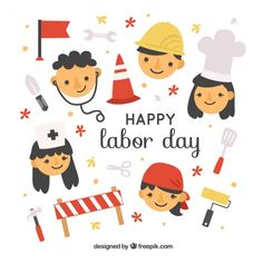 Characters with different professions background. Download thousands of free vectors on Freepik, the finder with more than 3 millions free graphic resources Labour Day, Happy Labor Day, Karaoke, Different, Vector Free, Snoopy, Holiday, Gouache, Festivals