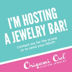 A Jewelry Bar® is a home party where you invite your friends, family, co-workers, neighbors and more to join you to see the wonderful product that makes up the Origami Owl® jewelry line.   More importantly, as a Hostess, you can earn tons of free product and discounted product including our Hostess Exclusives, a jewelry combo available only to our Jewelry Bar® Hostesses.